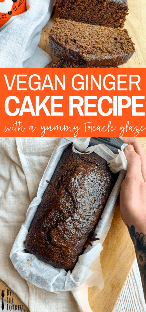 A vegan ginger cake with a sticky treacle glaze